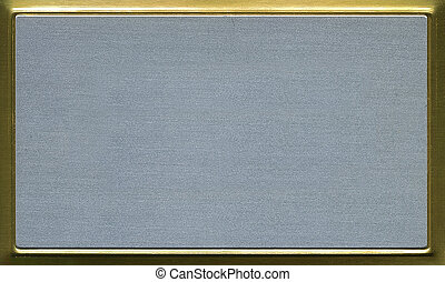 plaque, laiton, présentation, aluminium