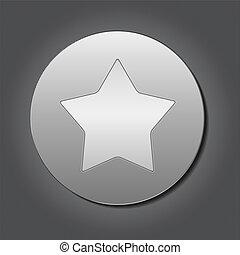 plaque, métal, étoile