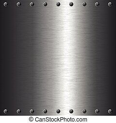 plaque, métal, vis