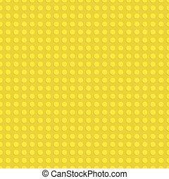 plaque., modèle, seamless, jaune, plastique, arrière-plan., vecteur, illustration, construction