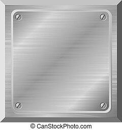 plaque, vecteur, métal, illustration, grattements