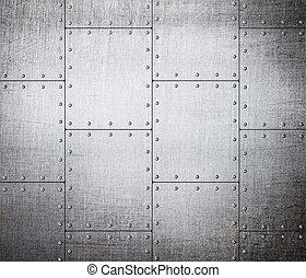 plaques, métal, fond