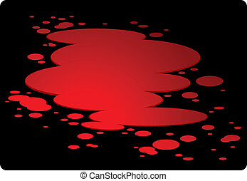 Plash of blood isolated on black