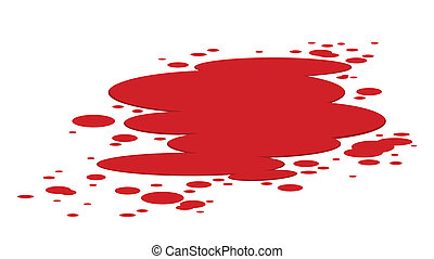 Red plash of blood isolated on white
