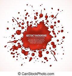 plaska, abstrakt, vektor, blod, bakgrund, röd