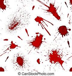 plaska, mönster, fläck, seamless, illustration, måla, vektor, blod, bakgrund, det stänker, eller, röd