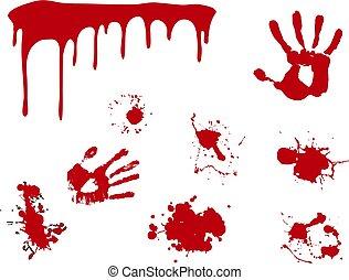 plaska, vektor, blod