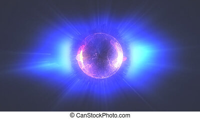 plasma ball blue
