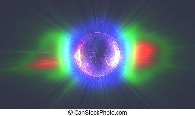 plasma ball ranbow