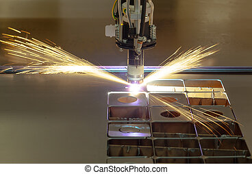 Plasma cutting process
