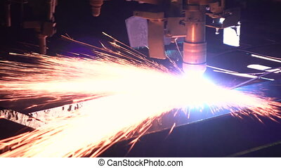 Plasma cutting process