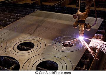 Plasma cutting - Digital portal type thick metal sheet...