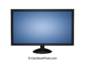 Plasma LCD TV Isolated on White Background