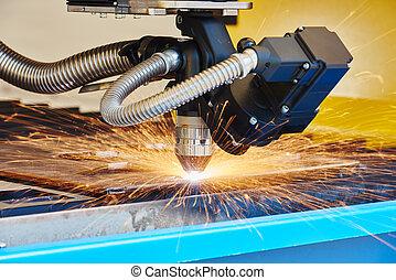 Plasma or laser cutting metalwork - metal working. Plasma or...