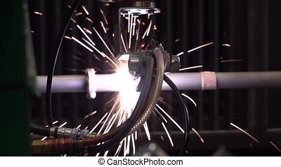 Plasma processing of a metalwork by the modern hi-tech...