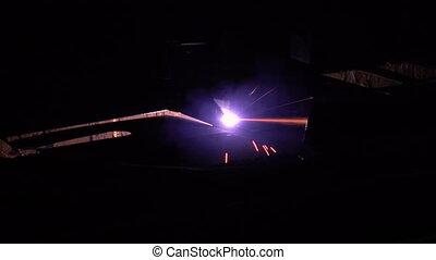plasma, processus, découpage