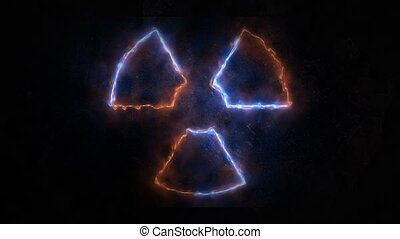 plasma radiation. Plasma glow on radiation. 21 - plasma...