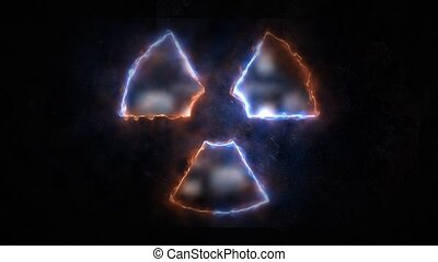 plasma radiation. Plasma glow on radiation. 22. - plasma...