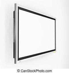 Plasma screen tv - 3D render of a plasma screen television