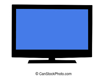 Plasma Television - Plasma television isolated on white...