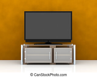 Plasma TV - 3D rendered Illustration.