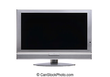 Plasma-TV - Flatscreen TV clipping path included