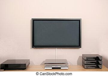 42 inch Hi Resolution Home Cinema Plasma display and audio equipment
