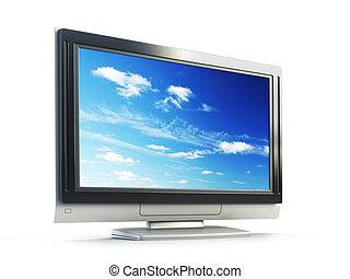 Plasma TV - 3d rendering plasma TV on white background