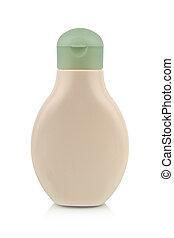 plast flaske, by, lotion, sæbe, shampoo, sunscreen