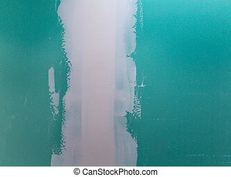 plaste, verde, costura, cartón de yeso, drywall, hydrophobic