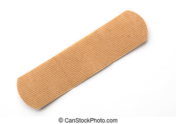 plaster - band aid on white background