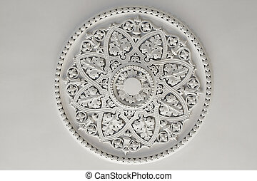 Plaster Ceiling Rose or plate - Old antique plaster ceiling...