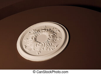 Plaster decor on the wall.