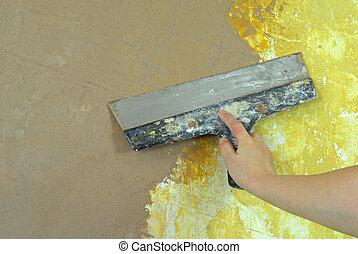 plaster filling wall repair