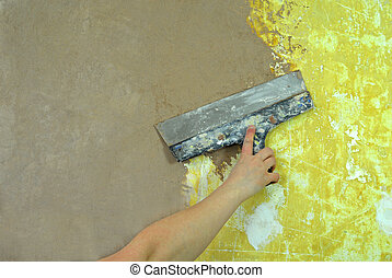 plaster filling wall repair
