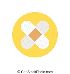 plaster  flat color icon