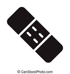plaster  glyph flat icon