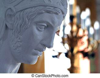 plaster sculpture, Greek statue,