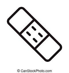 plaster  thin line icon