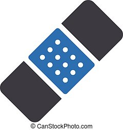 plaster vector glyph colour icon