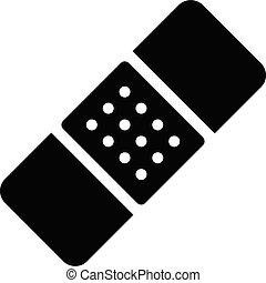 plaster vector glyph flat icon