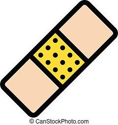 plaster vector line colour icon