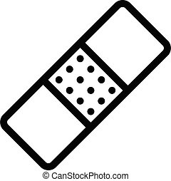 plaster vector thin line icon