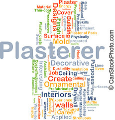 Plasterer background concept - Background concept wordcloud...