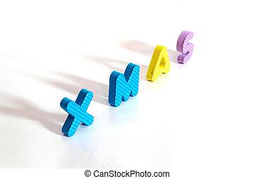 Plastic alphabet letter set for chrismas day.
