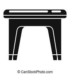 Plastic backless chair icon. Simple illustration of plastic backless chair icon for web design isolated on white background