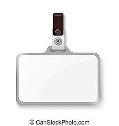 Plastic badge