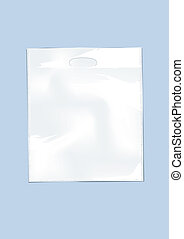 Plastic bag 2 - White plastic bag on a perse background
