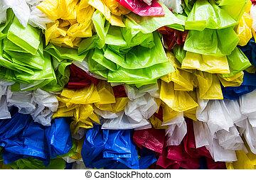 Plastic bag - Decorate plastic bag layer background