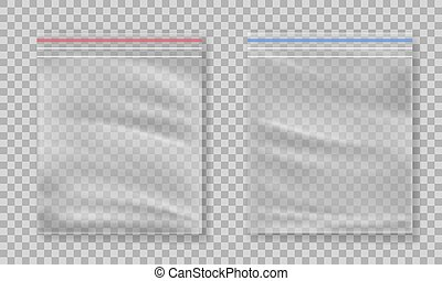 Plastic bag isolated on transparent background.